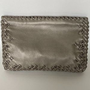 Silver/Gray Bottega Veneta Clutch